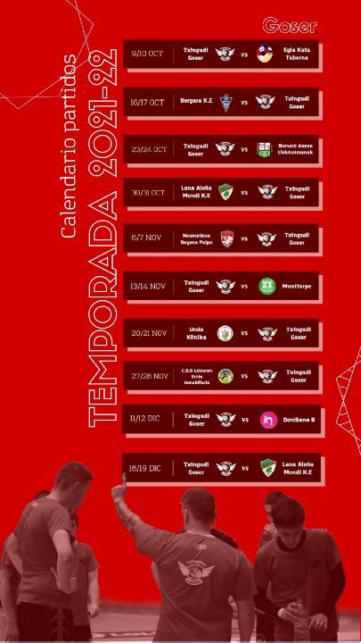 Calendario Partidos Temporada GOSER